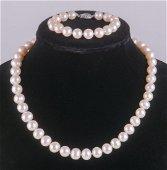 Freshwater Cultured Pearl Necklace & Bracelet