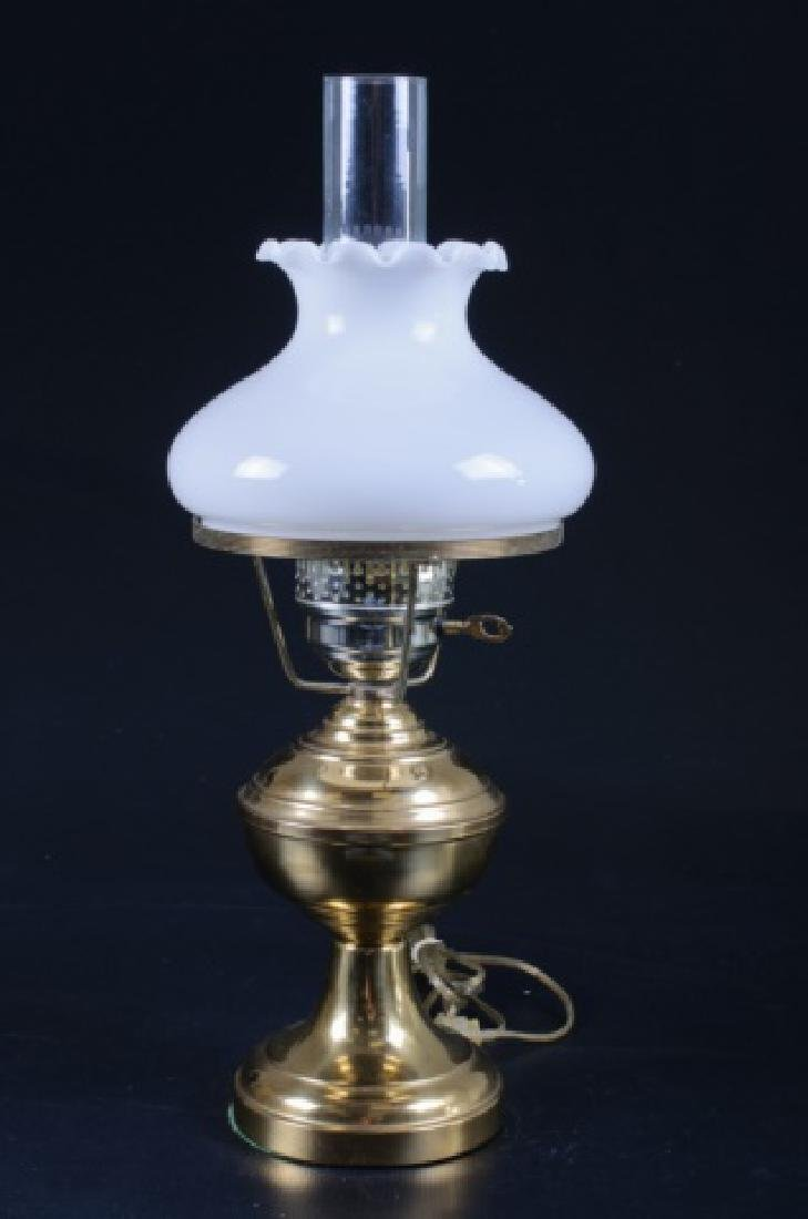 Brass & Glass Oil Style Lamp