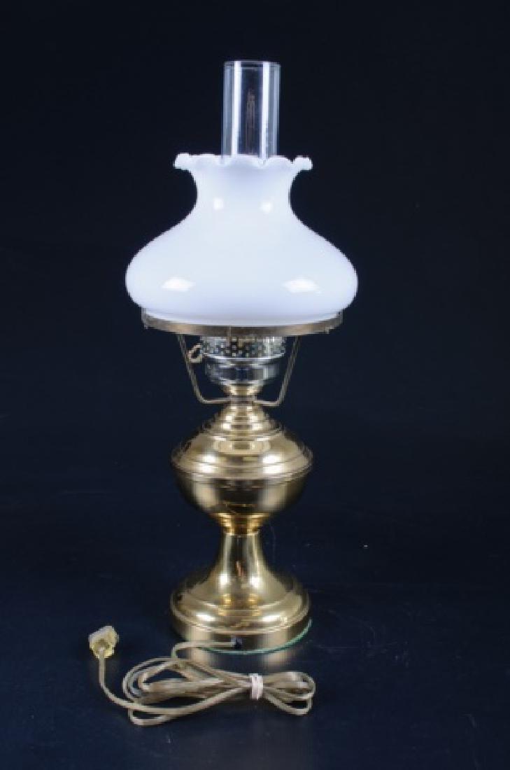 Brass & Glass Oil Style Lamp - 2