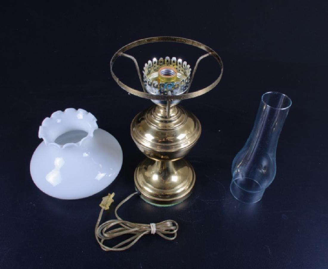 Brass & Glass Oil Style Lamp - 3