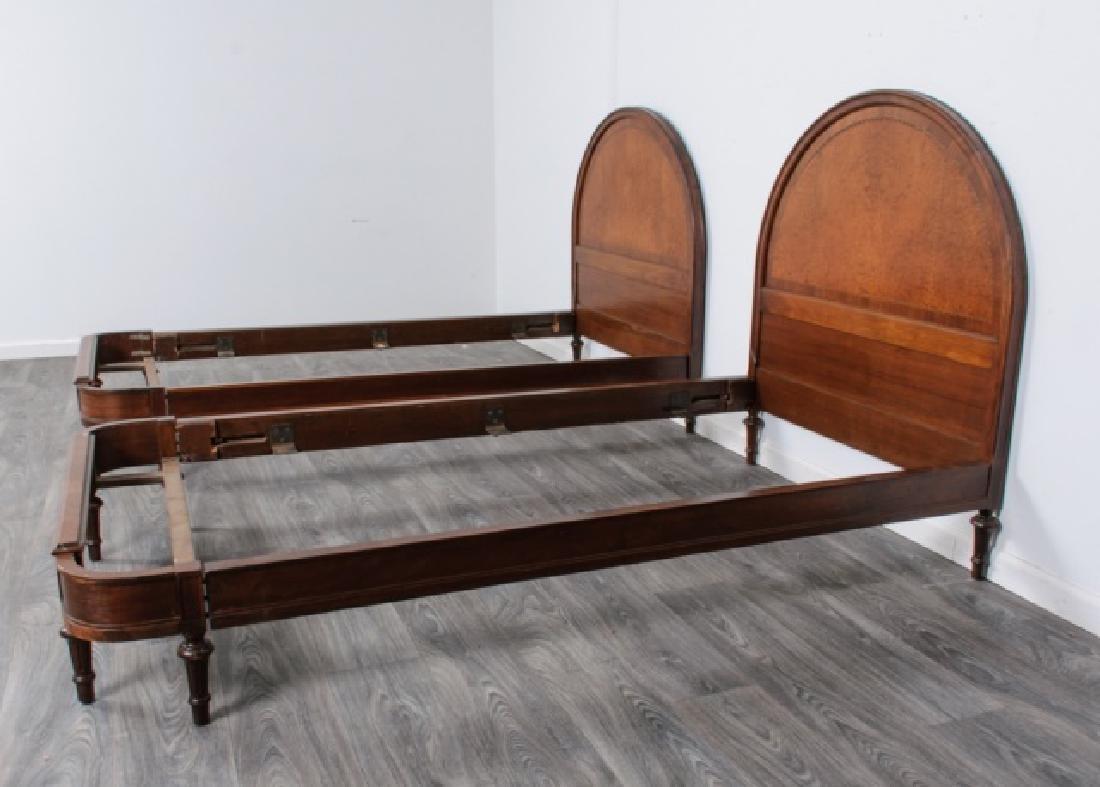 Walnut Twin Beds Pair - 7