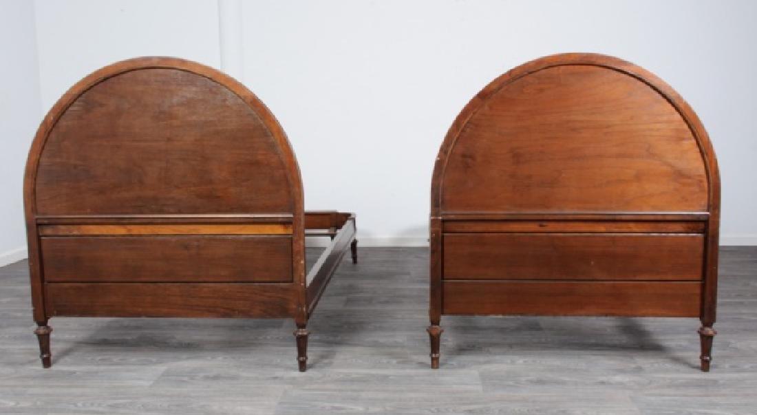 Walnut Twin Beds Pair - 8