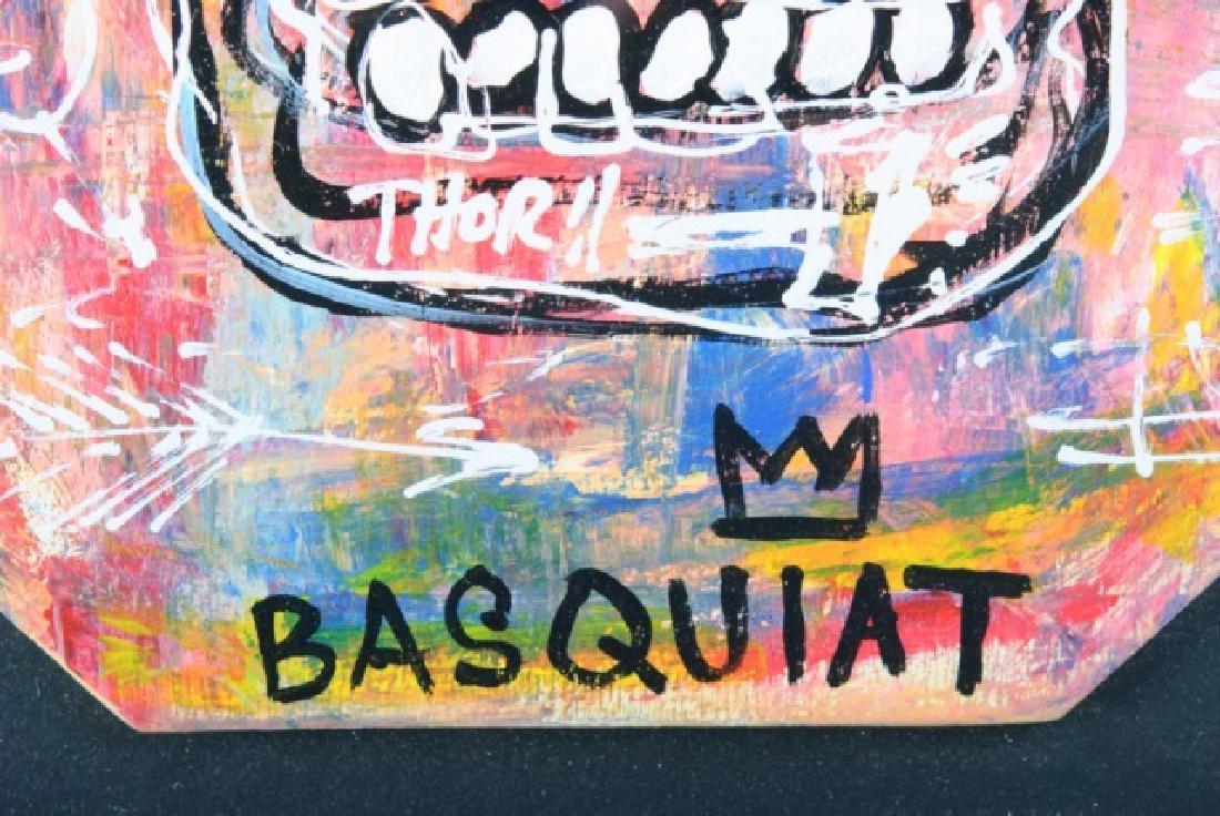 "Jean-Michel Basquiat ""Thor"" Mixed Media On Board - 3"