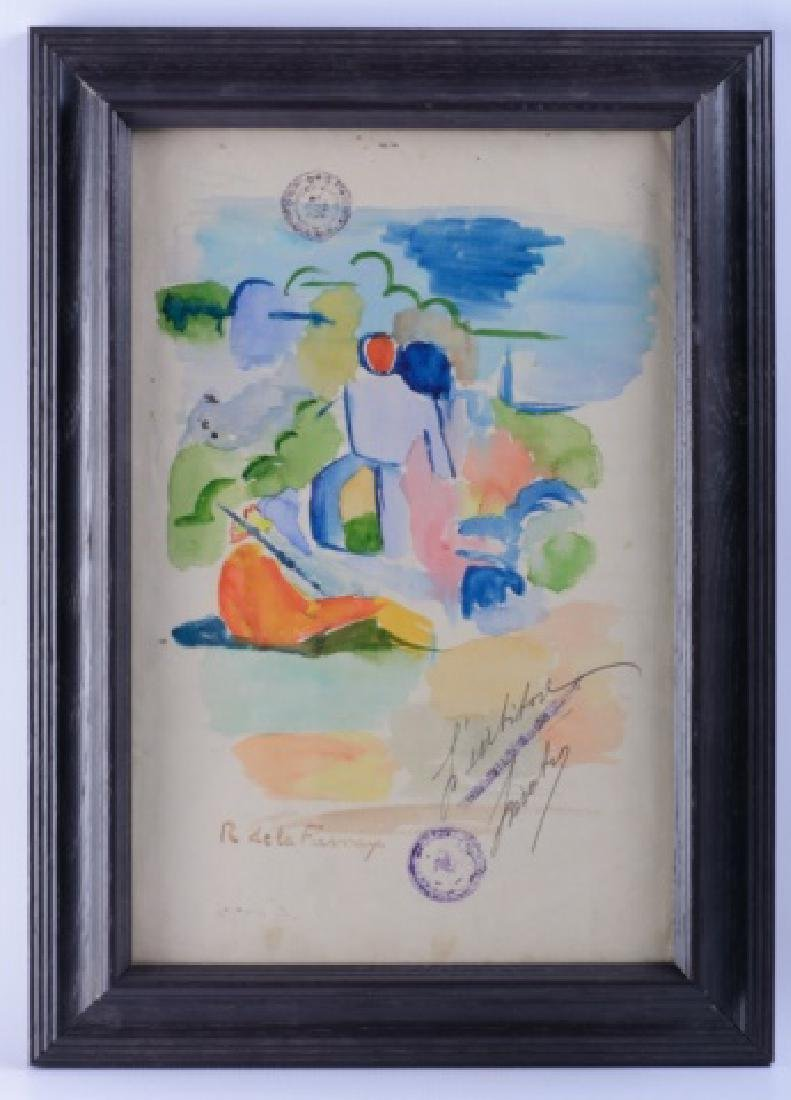 Roger de la Fresnaye Watercolor On Paper