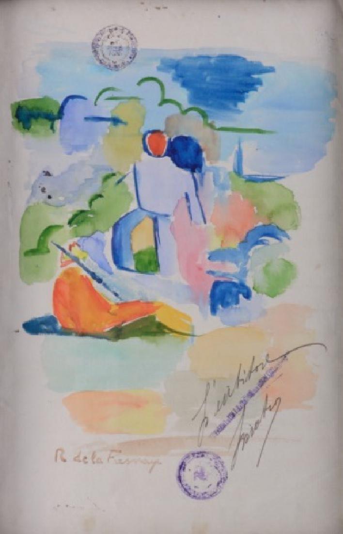Roger de la Fresnaye Watercolor On Paper - 2