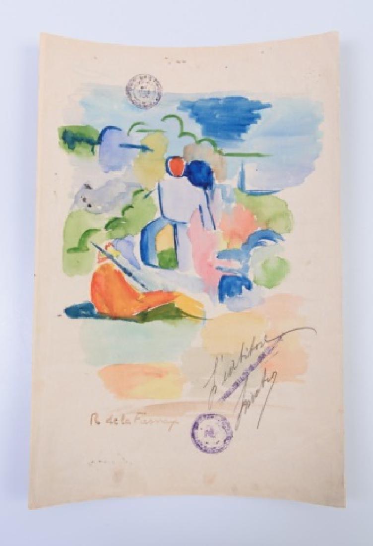 Roger de la Fresnaye Watercolor On Paper - 7