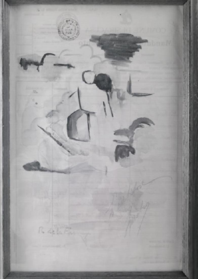 Roger de la Fresnaye Watercolor On Paper - 9