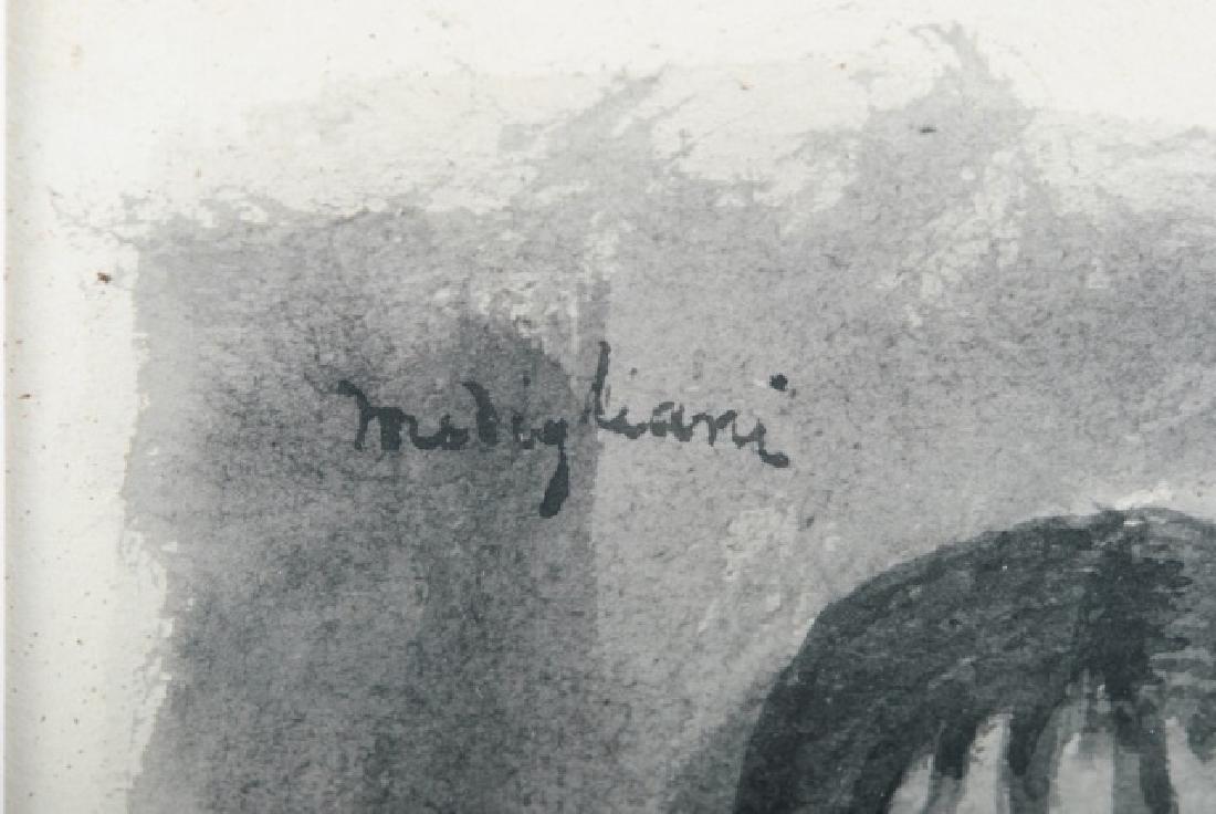 Amedeo Modigliani Attributed Portrait Watercolor - 3