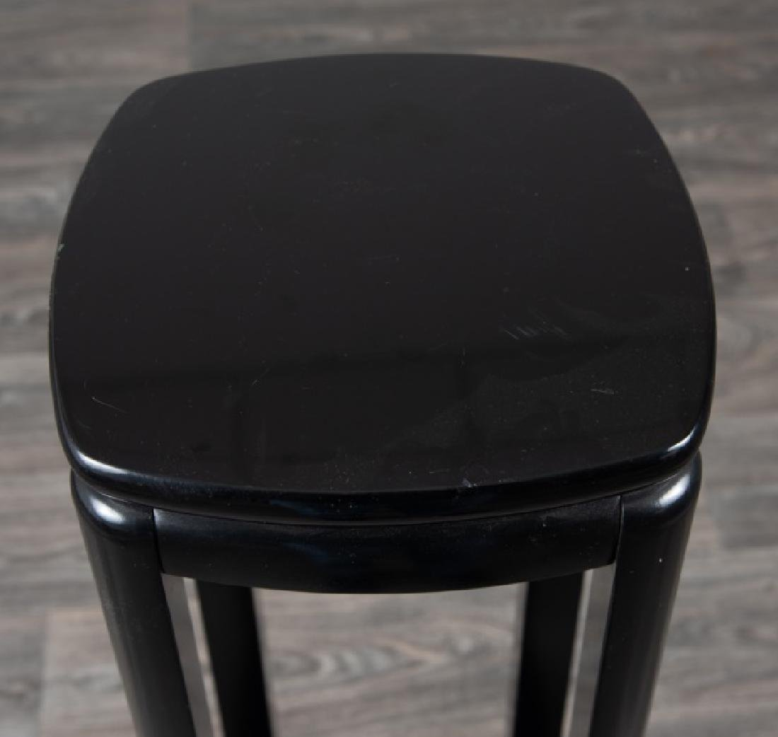 Lane Black Lacquered Tall Stand - 2