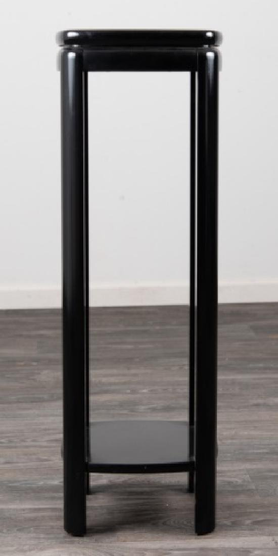 Lane Black Lacquered Tall Stand - 3