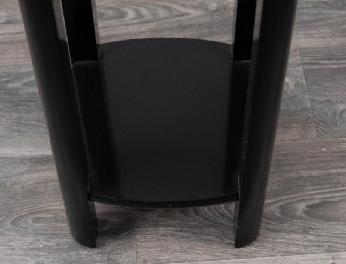 Lane Black Lacquered Tall Stand - 4