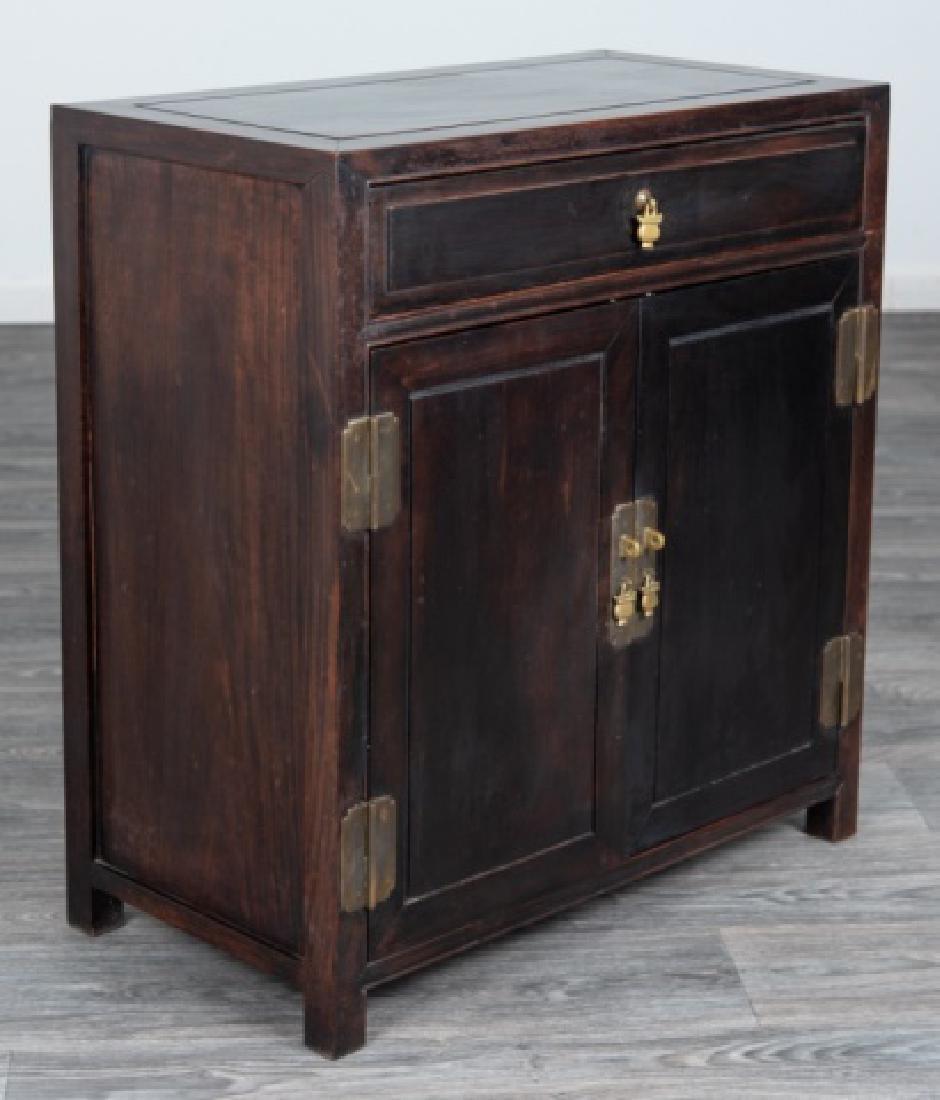 Ebonized Asian Style Cabinet