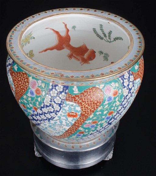 Chinese Porcelain Fish Bowl 19th Century