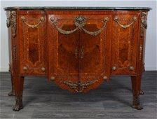 Louis XVI Style Marble Top Sideboard