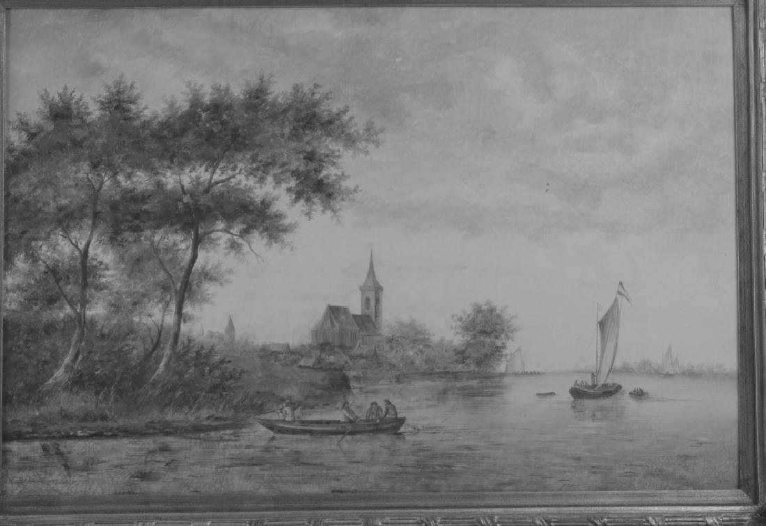 French School Oil on Canvas - 4