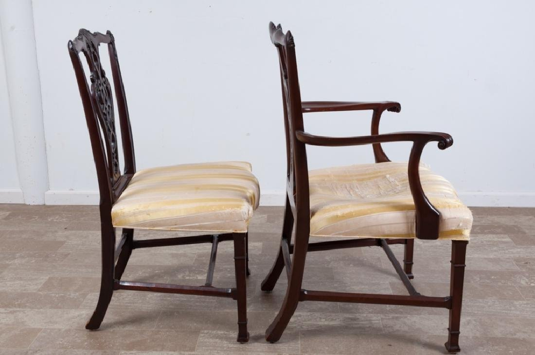 Chippendale Style Mahogany Dining Chairs - 2