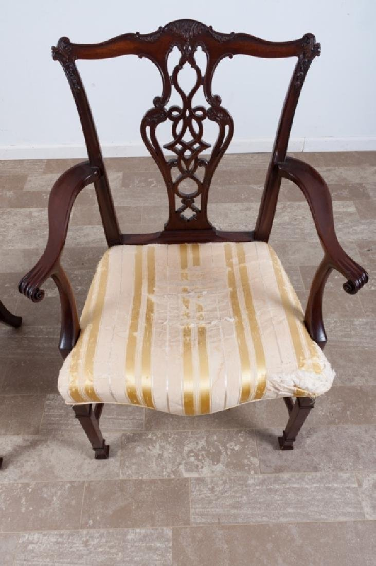 Chippendale Style Mahogany Dining Chairs - 3