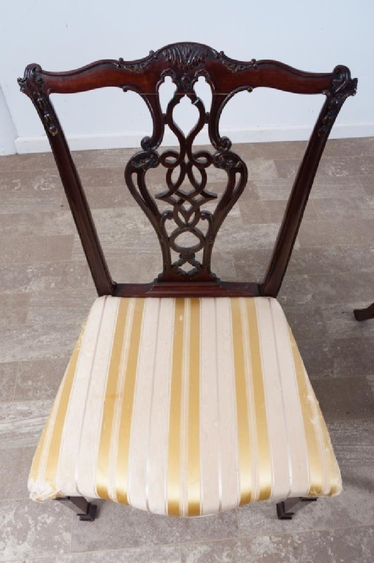 Chippendale Style Mahogany Dining Chairs - 4