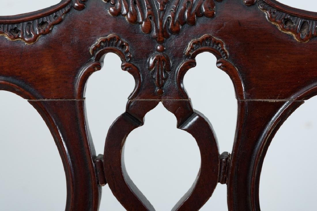 Chippendale Style Mahogany Dining Chairs - 6