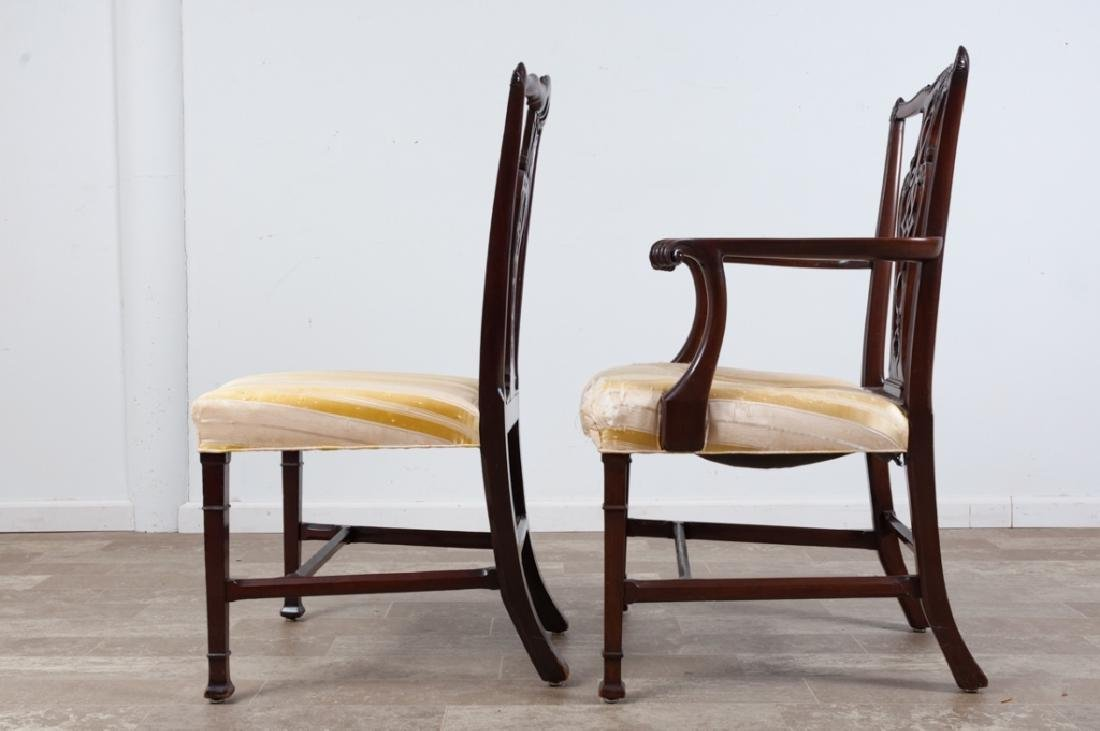 Chippendale Style Mahogany Dining Chairs - 7