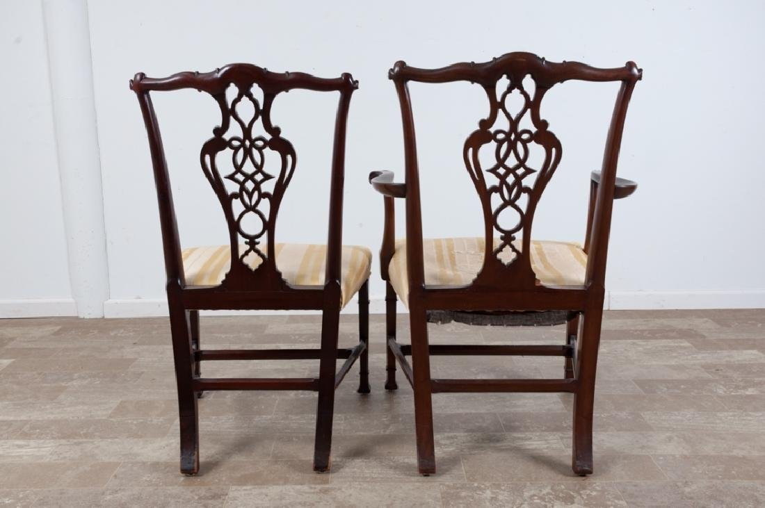 Chippendale Style Mahogany Dining Chairs - 8