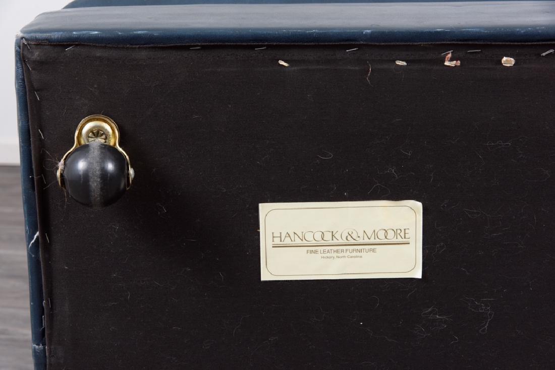 Hancock & Moore Leather Chair & Ottoman - 10