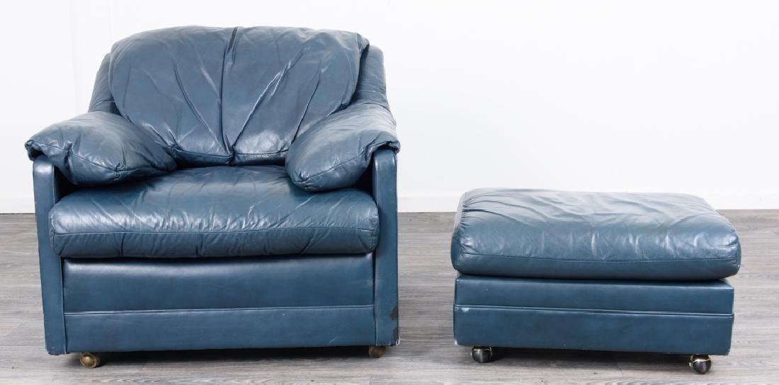 Hancock & Moore Leather Chair & Ottoman - 2