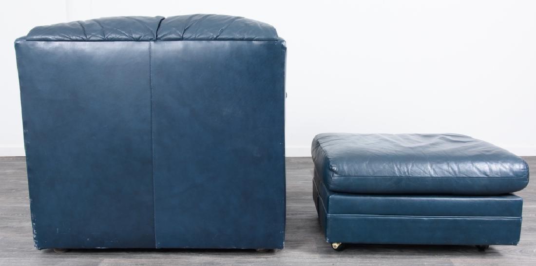 Hancock & Moore Leather Chair & Ottoman - 6