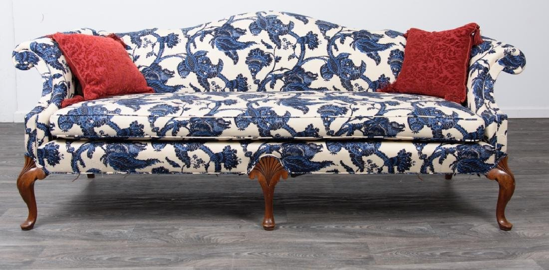 Chippendale Style Camelback Sofa - 2