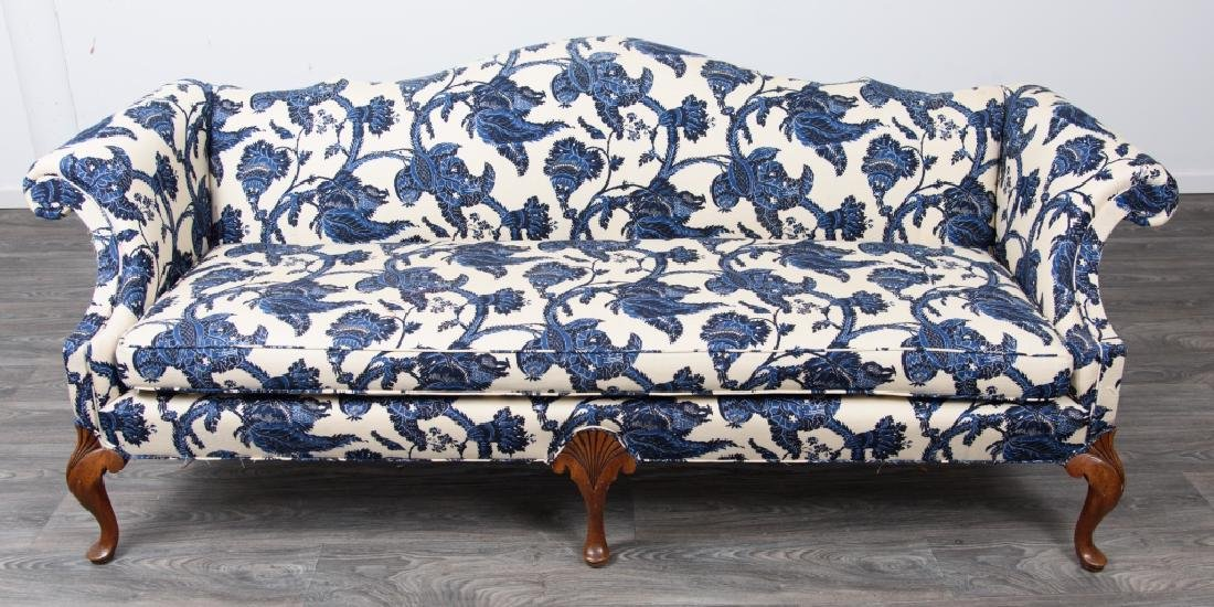 Chippendale Style Camelback Sofa - 3