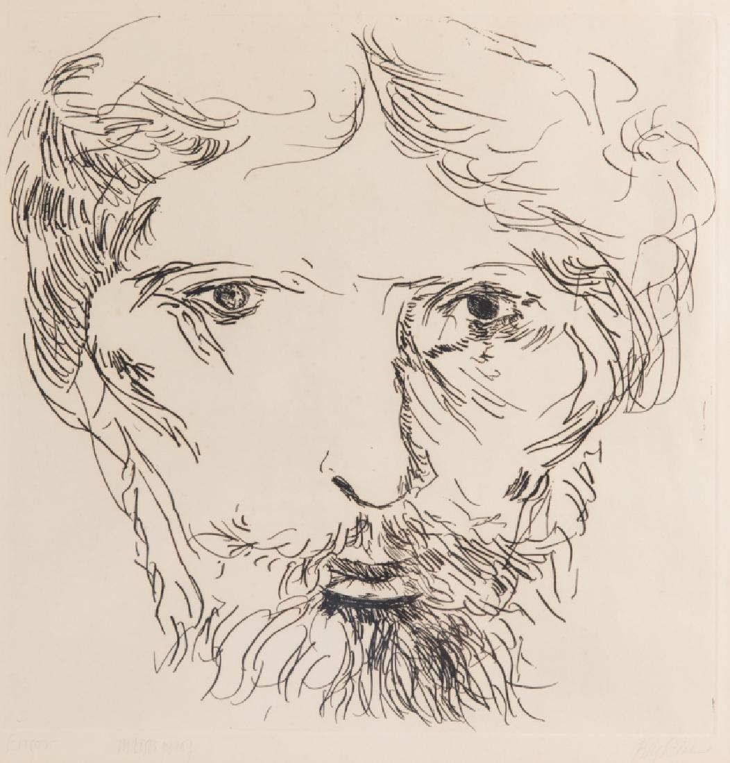 Leonard Baskin Artist's Proof Etching - 2