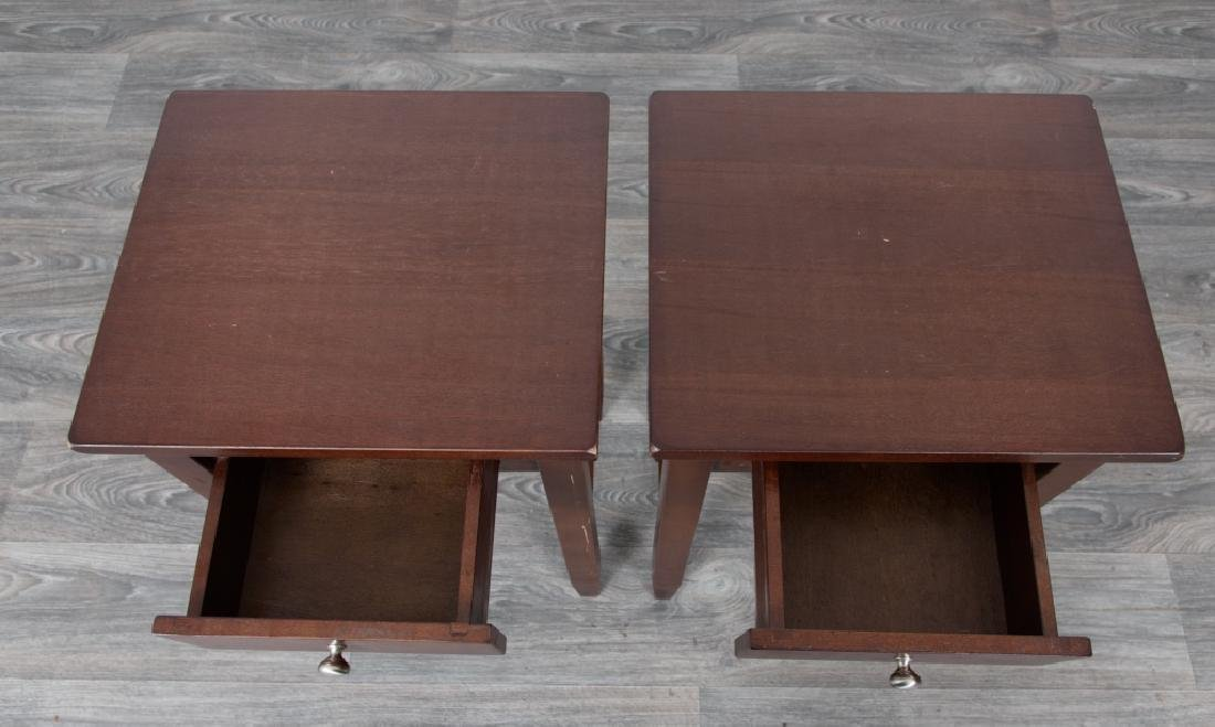 Wood Side Tables Pair - 2
