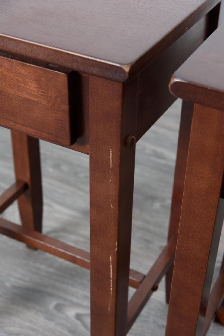 Wood Side Tables Pair - 3