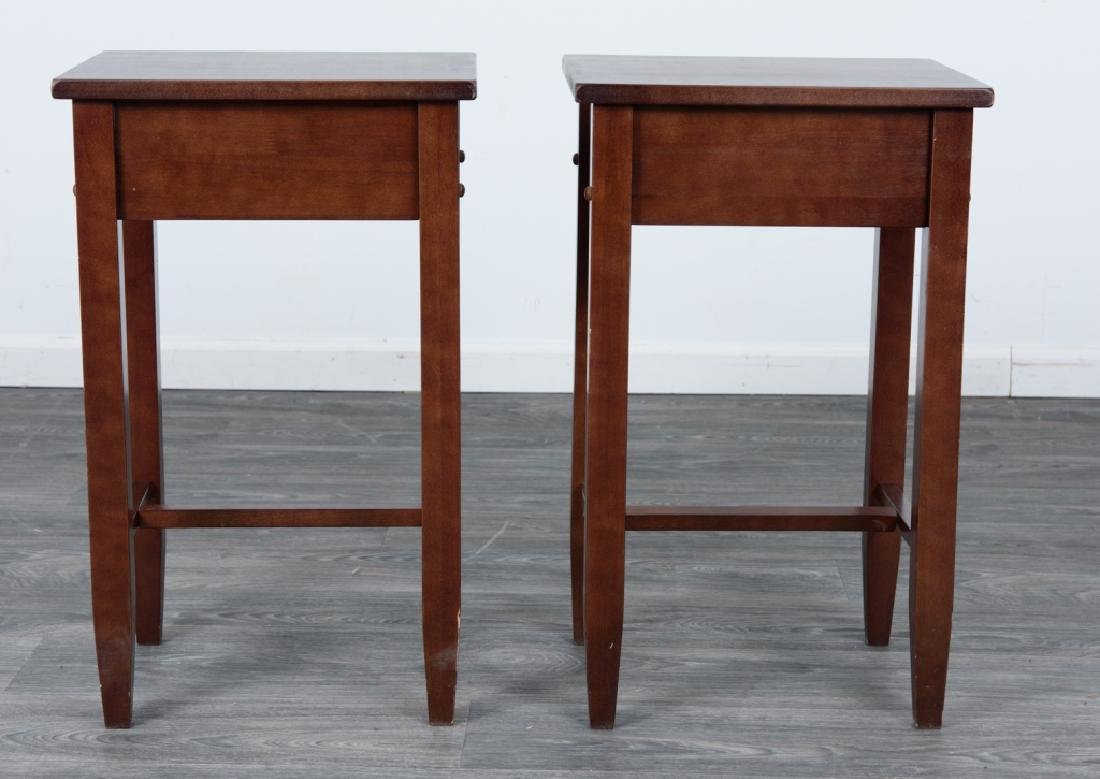 Wood Side Tables Pair - 6