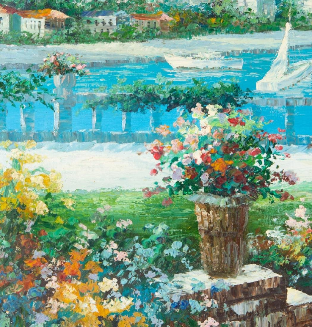 Impressionist Oil on Canvas Tropical Harbor Scene - 4