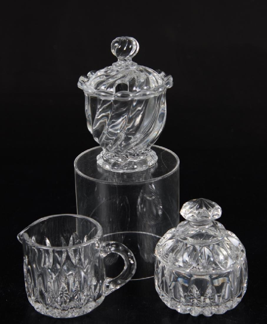 Crystal Sugar and Creamer Set