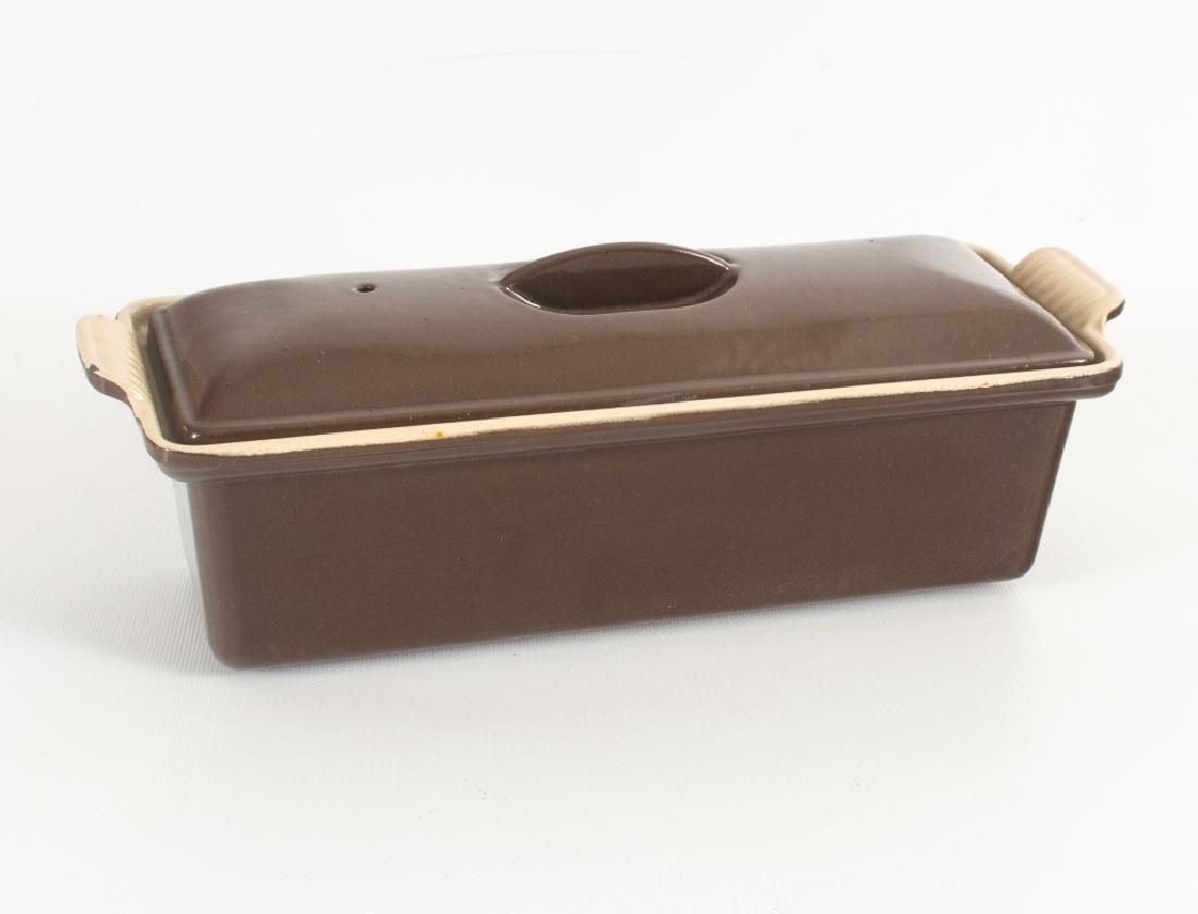 Brown Le Creuset Lidded Terrine