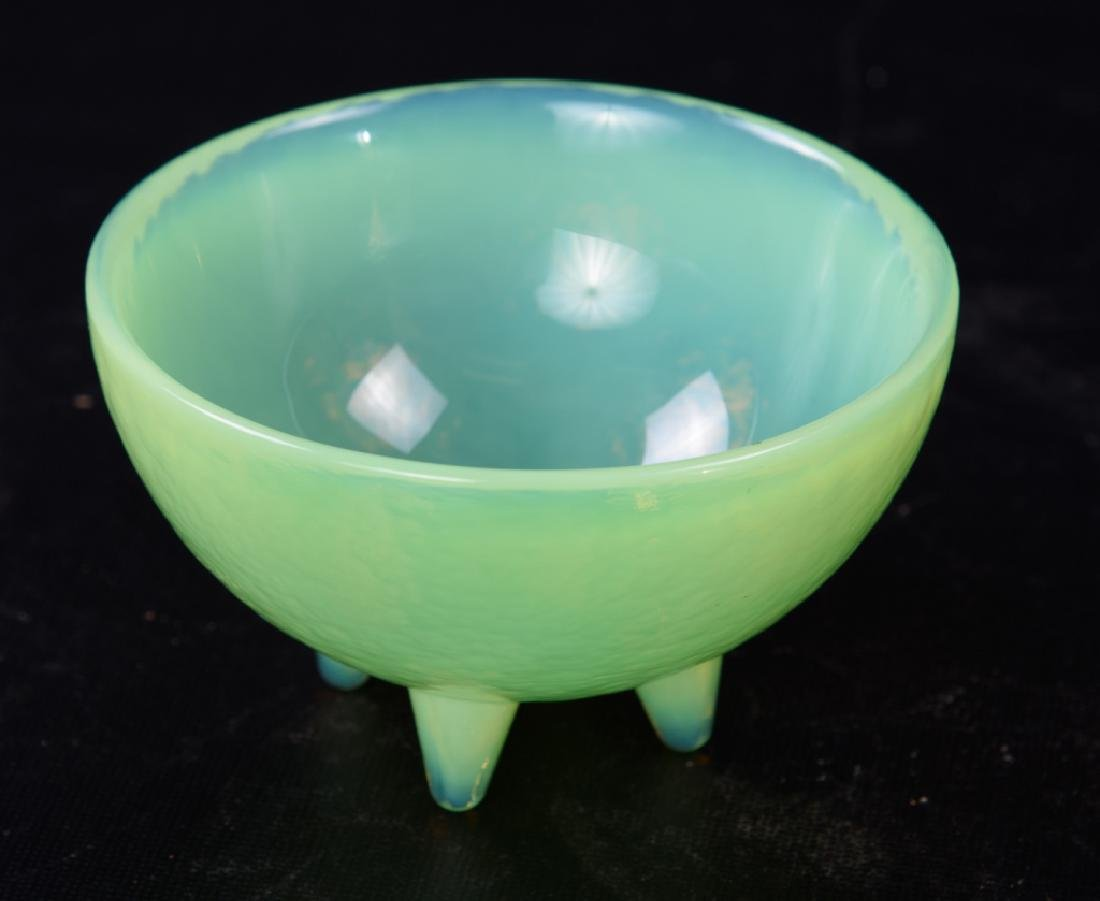 Opalescent Glass Footed Bowl