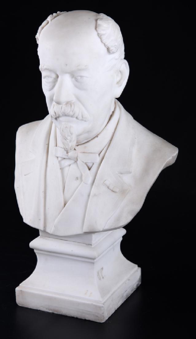 Alfred Caravanniez Alabaster Bust