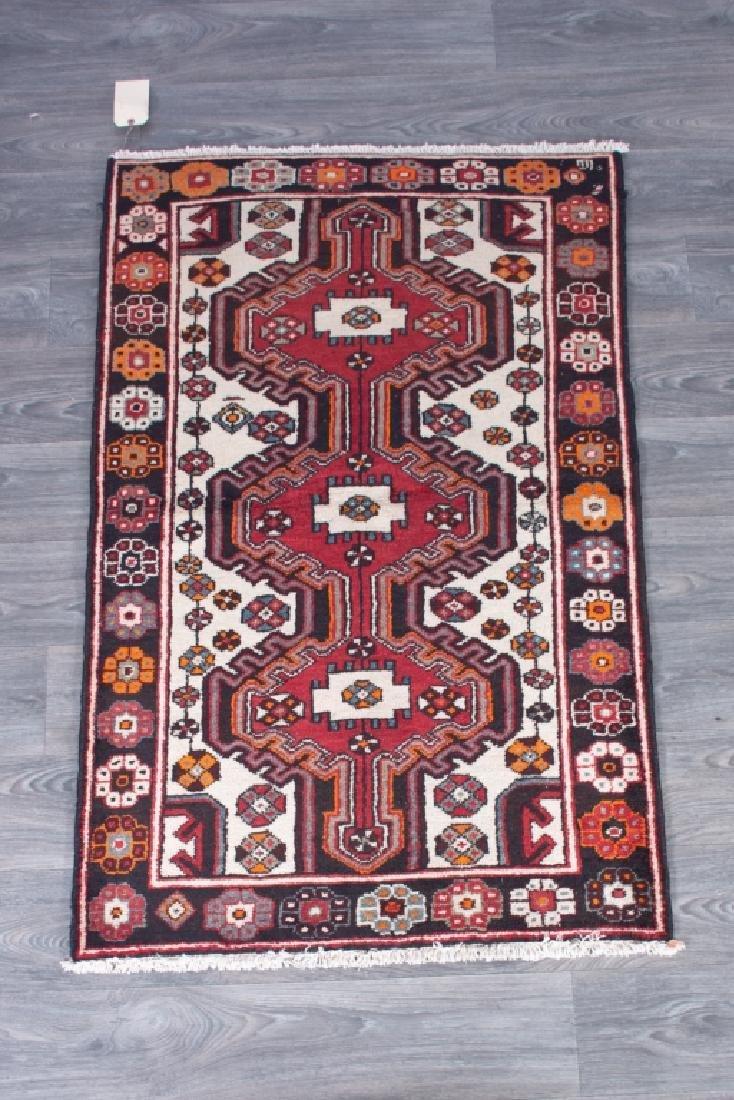 "Old Persian Bakhtiari  3""2"" x 5""1"" Area Rug"