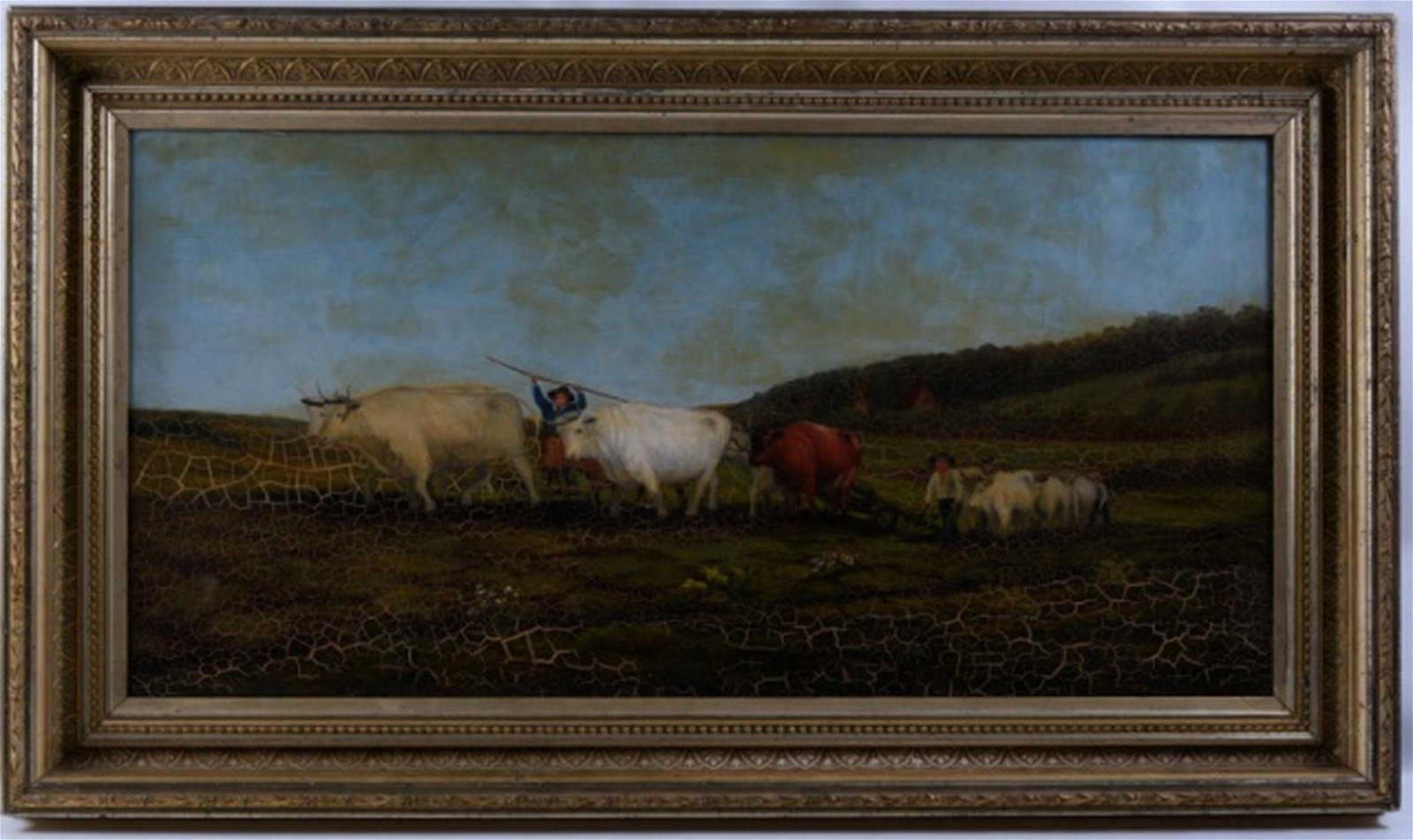 Oil on Canvas Landscape Painting, 19th C