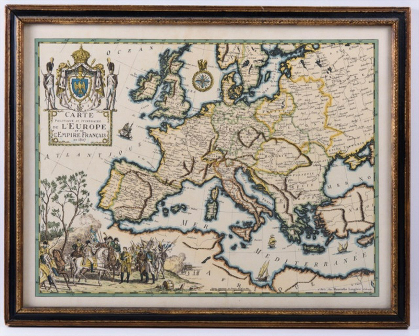 Hand Colored Map of Europe, Early 19th C