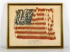 S.S. Sigourney WWI Small Silk Flag