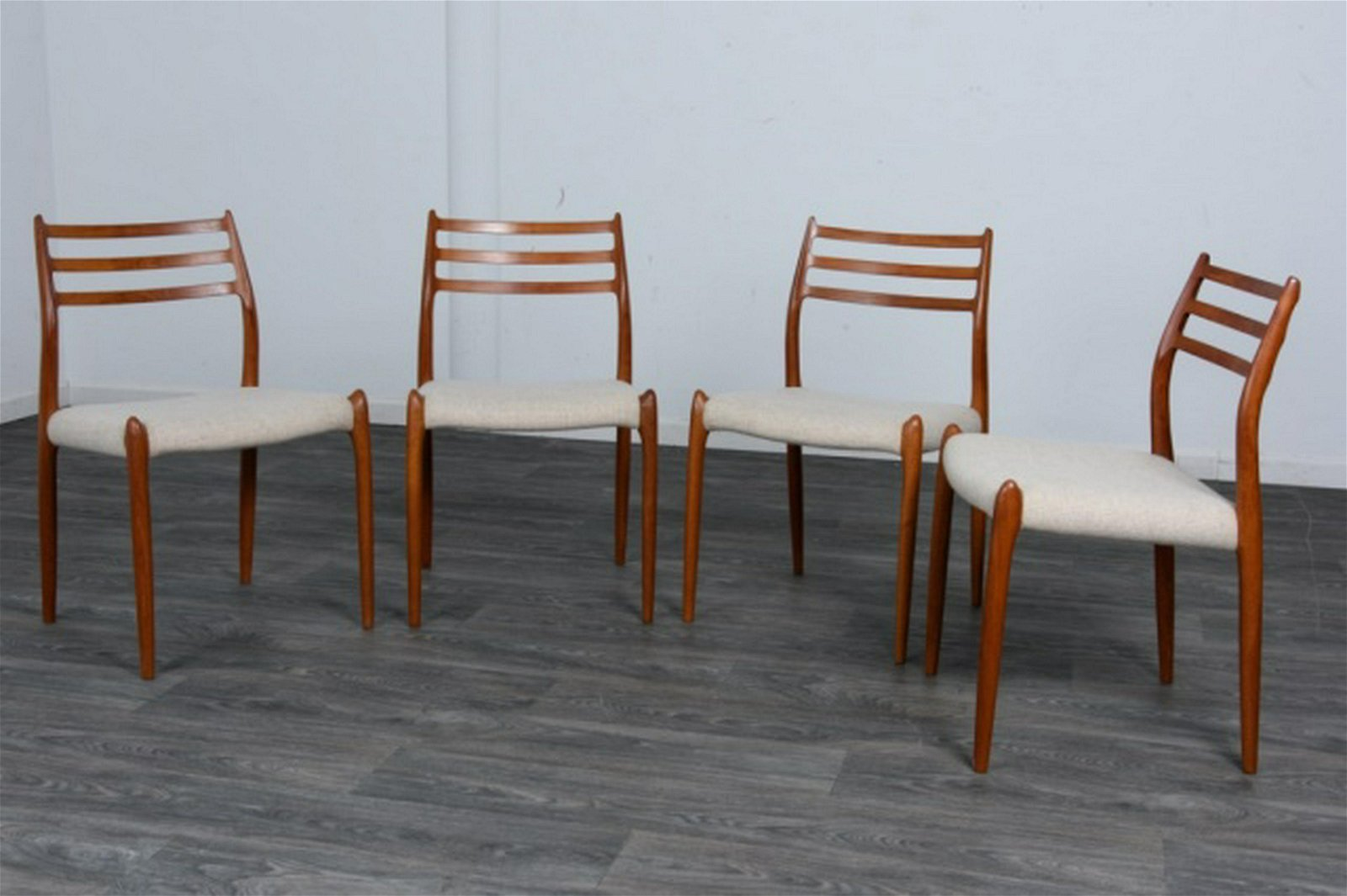 Four Mid Century Danish Teak Dining Chairs
