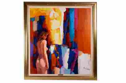 "Nicola Simbari ""Jasmine"" Acrylic on Canvas"