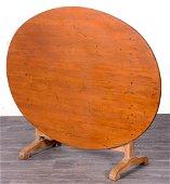 English Yew Wood Tilt Top Breakfast Table