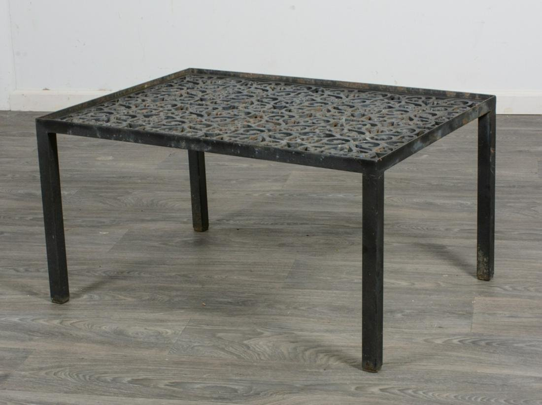 Cast Iron Grate Metal Table