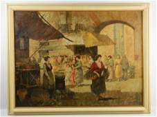 V. Ciappa Oil on Canvas Painting