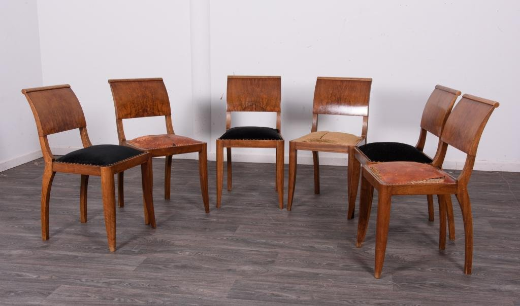 French Art Deco Side Chairs Group