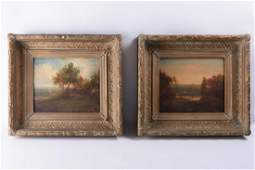Pair L18th/E19th C Oil on Canvas Paintings